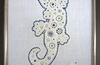 白糸刺繍作品