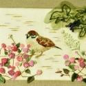 駒澤美加作品:姫つるそばと雀のソーイングボックス
