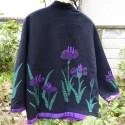 小林和子 アップリケのあるジャケット