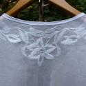 小林和子 白糸刺繍のブラウス