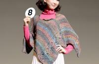 8.ダイヤメロディアで編む!!4枚編んでポンチョを着る デザイン:安齋こう子