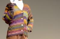 7.ダイヤドミナで編む!増減なしでジャケットプラスα デザイン:早川陽子